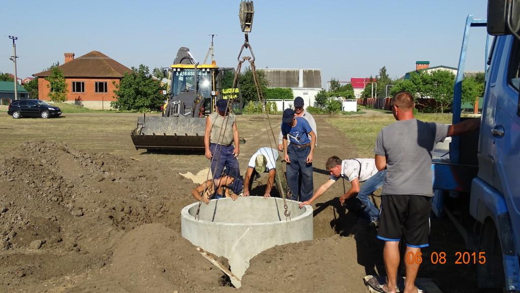 Сооружение водяного колодца и установка счетчика
