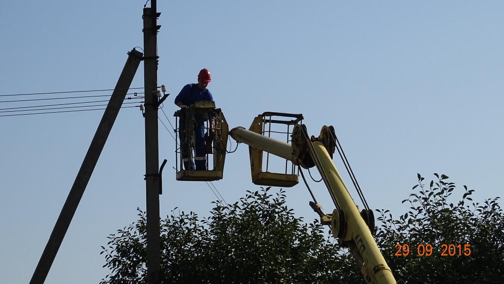 Проведение и установка 120 метров электричества