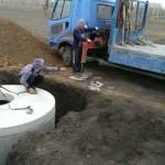 Установка и сооружение канализационного блока